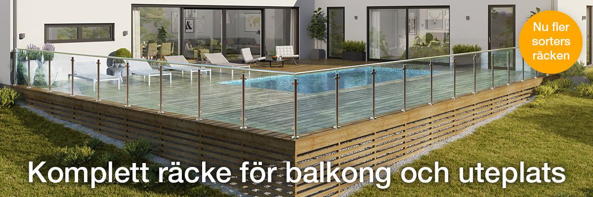 Kompletta räcken för altan, balkong och trappa