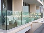 Miniatyr: Glasräcke med profil