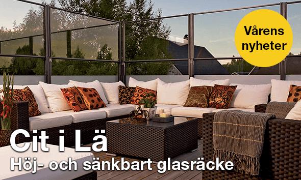 Cit i Lä - Höj- & sänkbart glasräcke