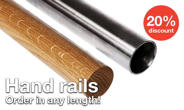 Selected hand rails and tubes - 20% discount