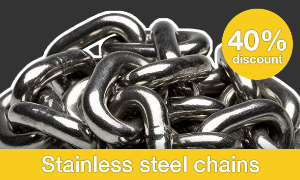 Stainless steel chains - 40% discount