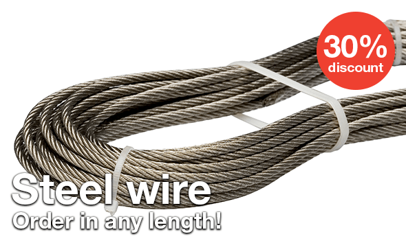 Steel wire - 30% discount