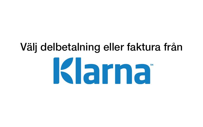 Välj delbetalning eller faktura från Klarna!