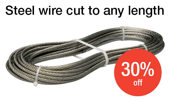 Steel wire 30% off