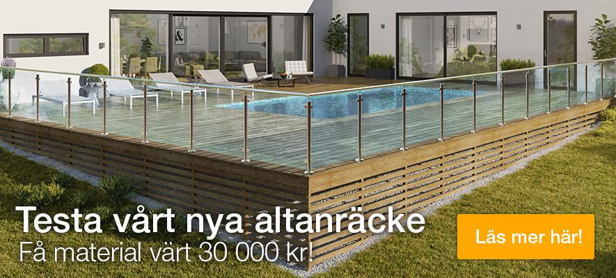 Testa vårt nya altanräcke - få material värt 30000 kr
