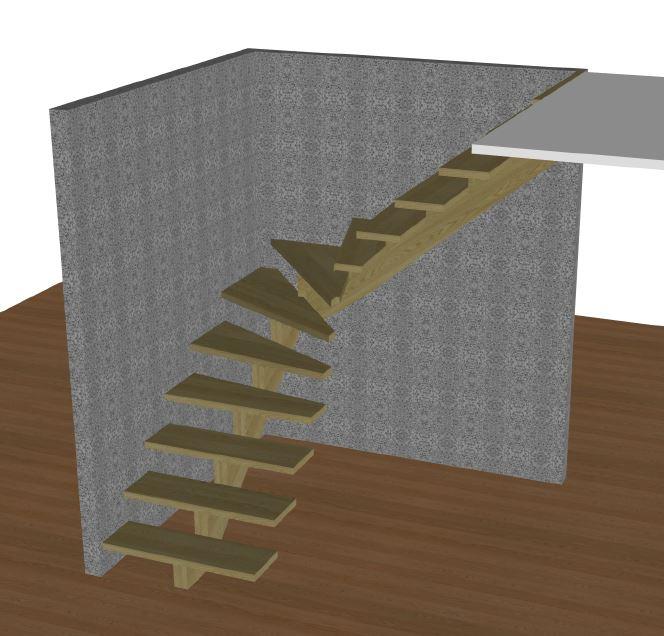 L-trappa höger utan vagn