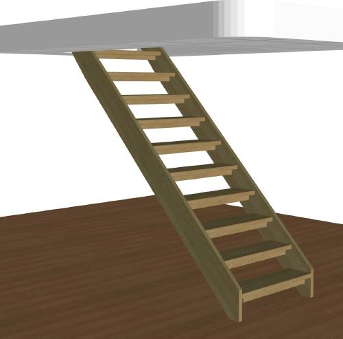 Rak trappa med barnlist
