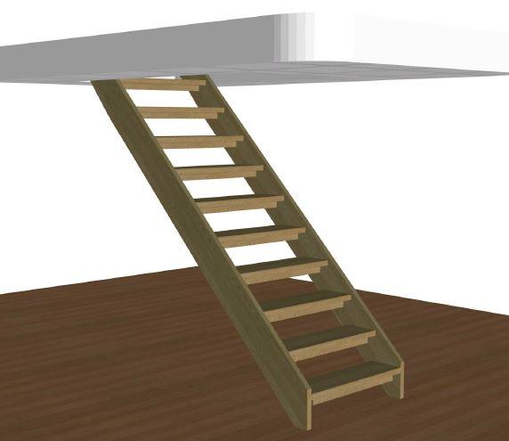 Rak trappa med vagn