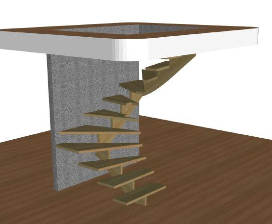 U-trappa höger utan vagn