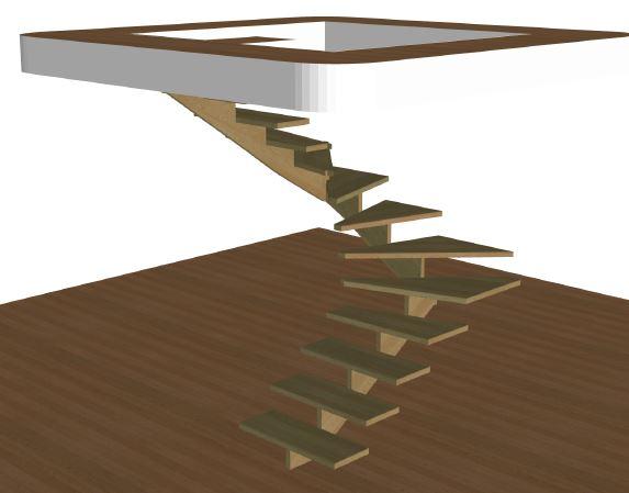 U-trappa vänster utan vagn